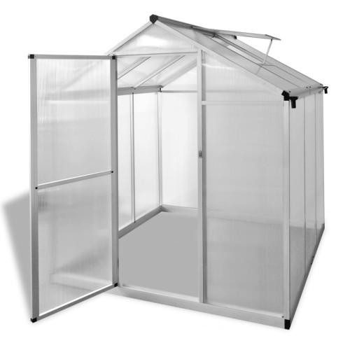 vidaXL Växthus 3,46 m² förstärkt aluminium