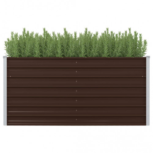 vidaXL Upphöjd odlingslåda brun 160x80x77 cm galvaniserat stål