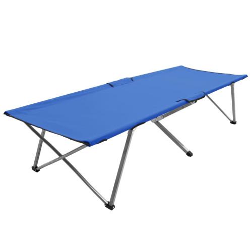 vidaXL Campingsäng 206x75x45 cm XXL blå