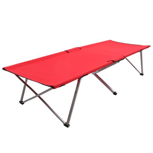 vidaXL Campingsäng 206x75x45 cm XXL röd