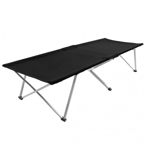 vidaXL Campingsäng 206x75x45 cm XXL svart
