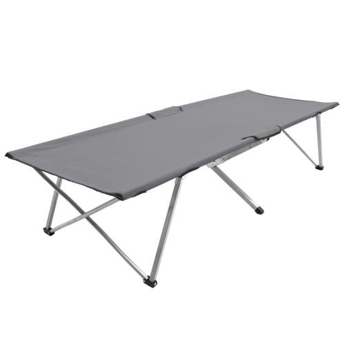 vidaXL Campingsäng 206x75x45 cm XXL grå
