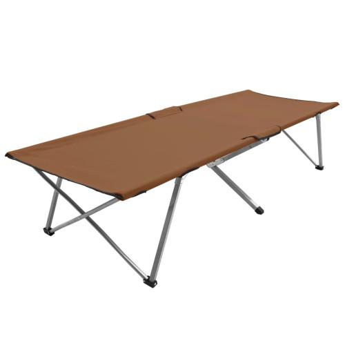 vidaXL Campingsäng 206x75x45 cm XXL brun