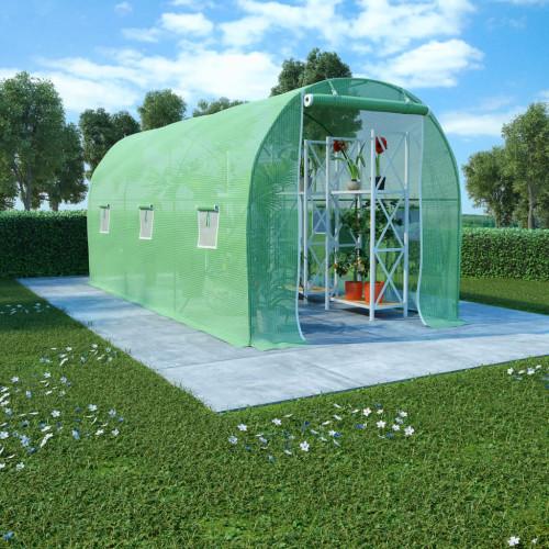 vidaXL Växthus 9 m² 4,5x2x2 m