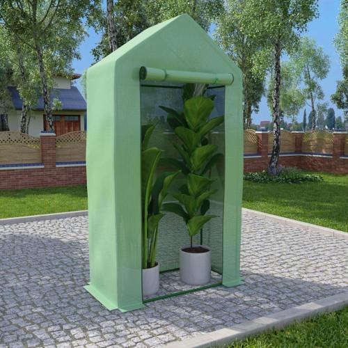 vidaXL Växthus med stålram 0,5 m² 1x0,5x1,9 m