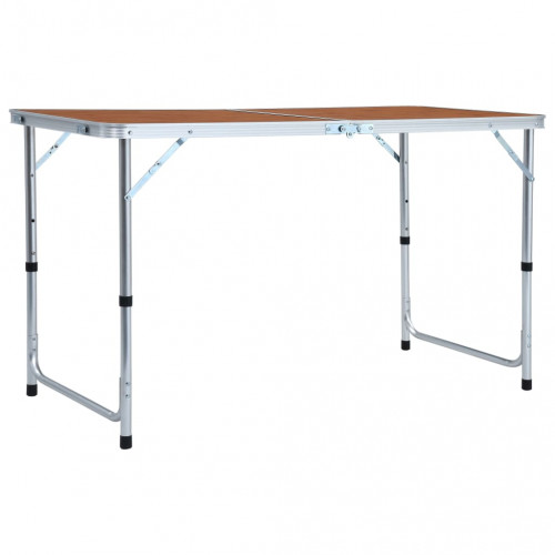 vidaXL Hopfällbart campingbord aluminium 120x60 cm