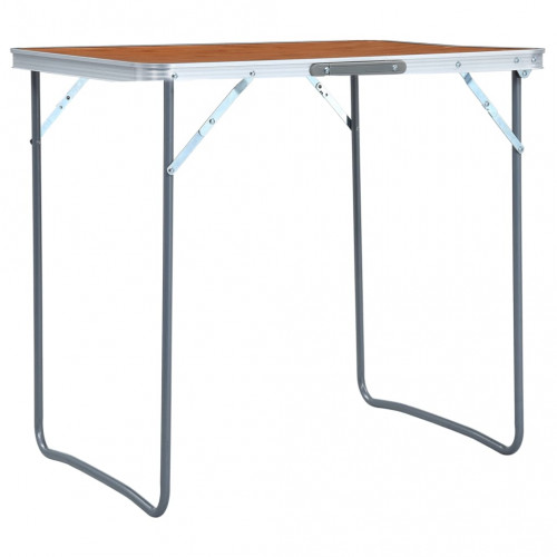 vidaXL Hopfällbart campingbord aluminium 60x45 cm