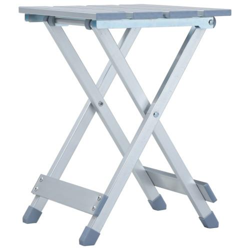 vidaXL Campingpall aluminium 28x26x39 cm