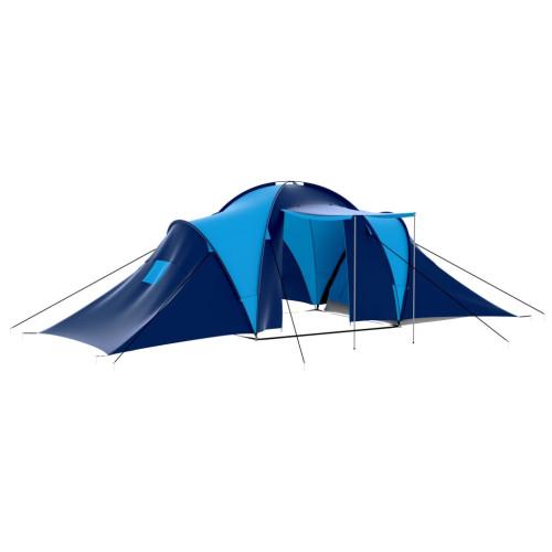 vidaXL Tält för 9 personer mörkblå och blå