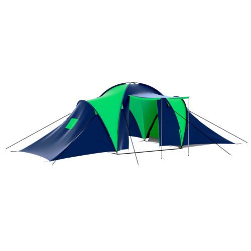 Dream Living Tält för 9 personer blå och grön