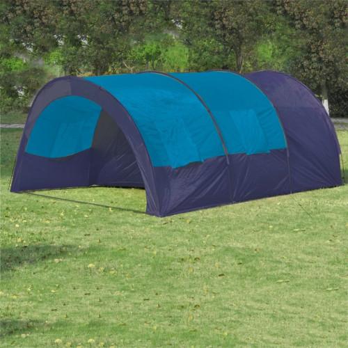 Dream Living Tält för 6 personer mörkblå och blå
