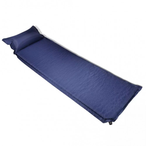 vidaXL Luftmadrass 6x66x200 cm blå