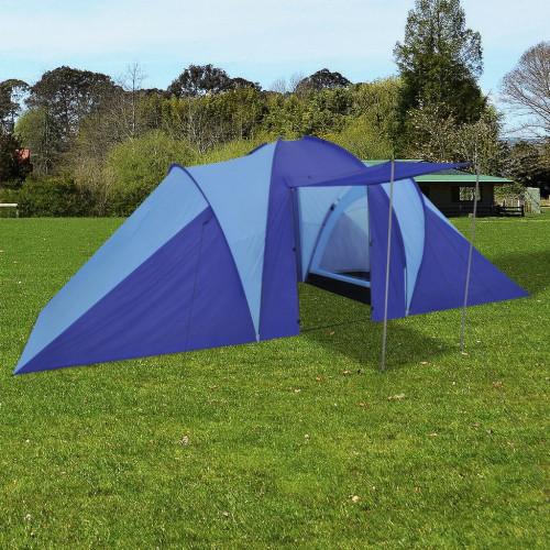 Dream Living Tält för 6 personer marinblå/ljusblå