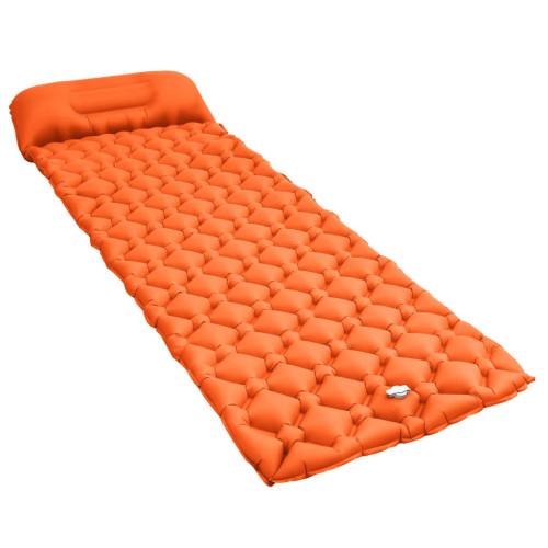 vidaXL Luftmadrass med kudde 58x190 cm orange