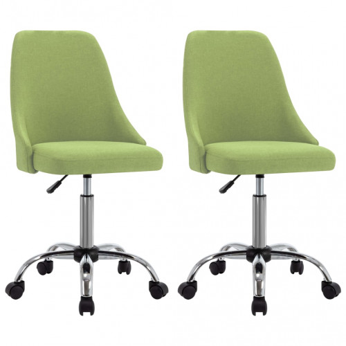 Dream Living Rullbara kontorsstolar 2 grön tyg