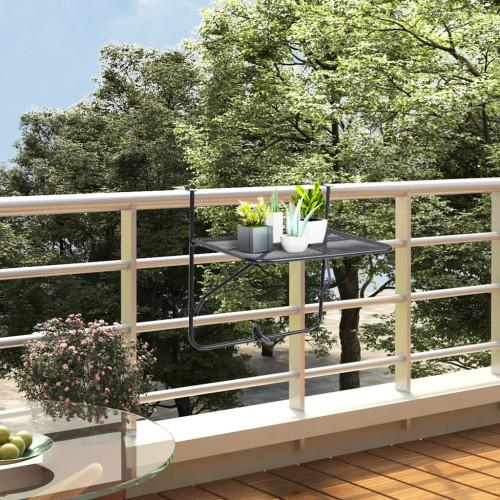 Dream Living Balkongbord svart 60x40 cm stål