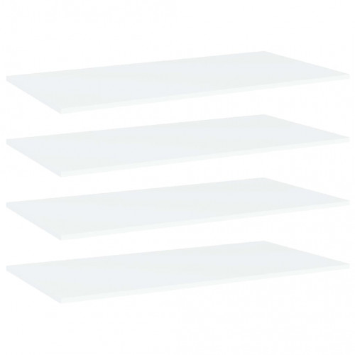 Dream Living Hyllplan 4 st vit 80x30x1,5 cm spånskiva
