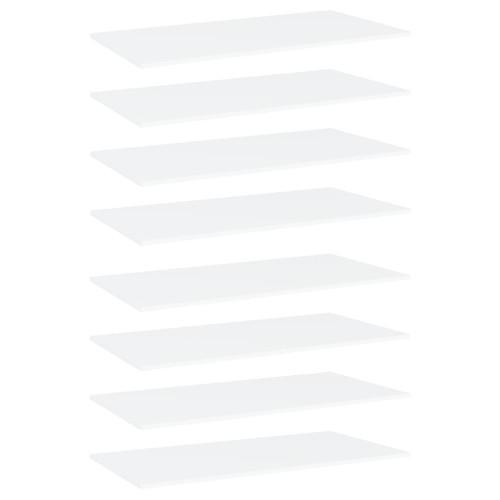 Dream Living Hyllplan 8 st vit 80x30x1,5 cm spånskiva