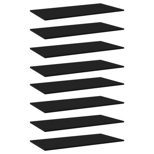 Dream Living Hyllplan 8 st svart 80x30x1,5 cm spånskiva