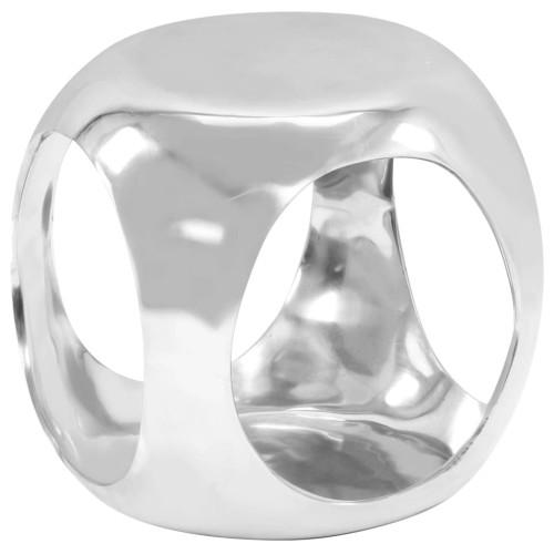 Dream Living Sidobord gjuten aluminium 35x35x35 cm silver