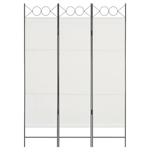Dream Living Rumsavdelare 3 paneler vit 120x180 cm