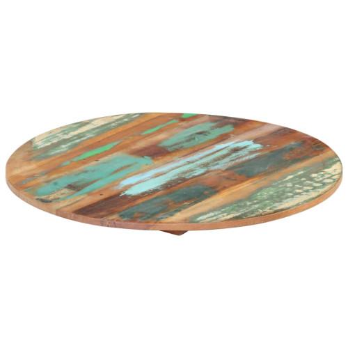 Dream Living Rund bordsskiva 50 cm 15-16 mm massivt återvunnet trä