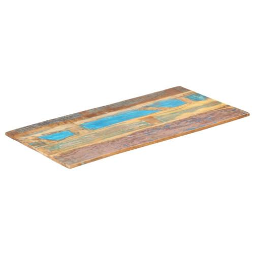 Dream Living Rektangulär bordsskiva 60x100cm 15-16mm massivt återvunnet trä