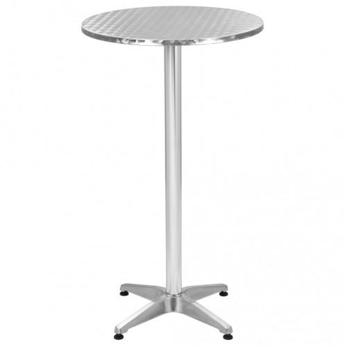 Dream Living Trädgårdsbord silver 60x(70-110) cm aluminium
