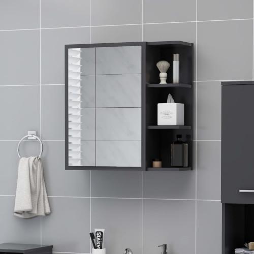 Dream Living Spegelskåp för badrum grå 62,5x20,5x64 cm spånskiva