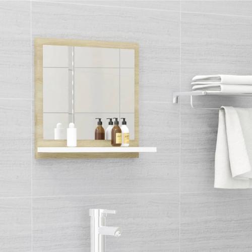 Dream Living Badrumsspegel vit och sonoma-ek 40x10,5x37 cm spånskiva