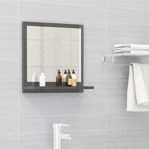 Dream Living Badrumsspegel grå högglans 40x10,5x37 cm spånskiva