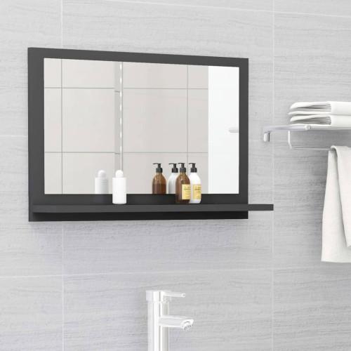 Dream Living Badrumsspegel grå 60x10,5x37 cm spånskiva