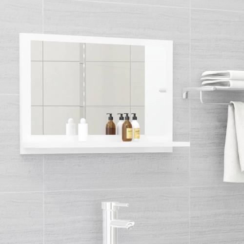 Dream Living Badrumsspegel vit högglans 60x10,5x37 cm spånskiva