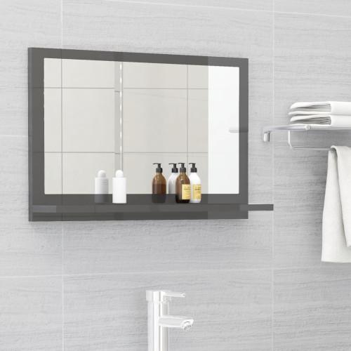 Dream Living Badrumsspegel grå högglans 60x10,5x37 cm spånskiva
