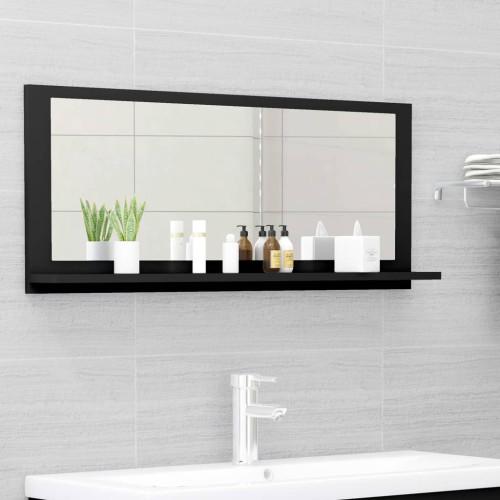 Dream Living Badrumsspegel svart 90x10,5x37 cm spånskiva