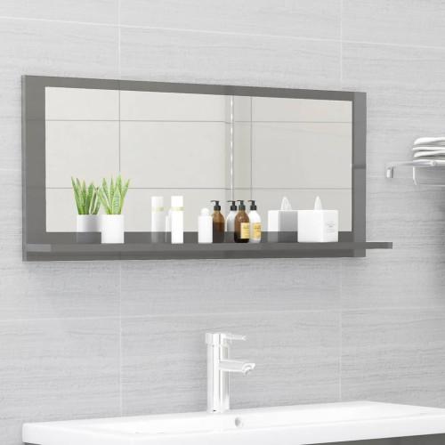Dream Living Badrumsspegel grå högglans 90x10,5x37 cm spånskiva