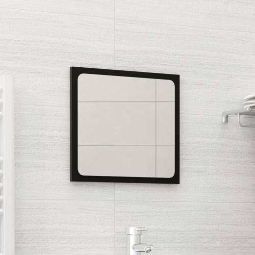 Dream Living Badrumsspegel svart 40x1,5x37 cm spånskiva
