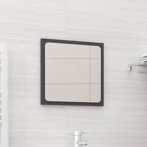 Dream Living Badrumsspegel grå högglans 40x1,5x37 cm spånskiva