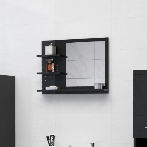 Dream Living Badrumsspegel svart högglans 60x10,5x45 cm spånskiva
