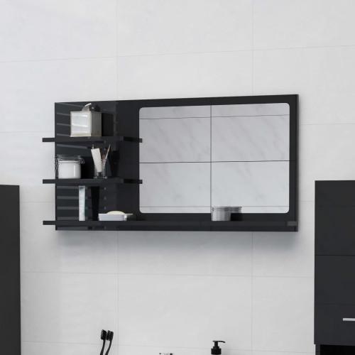 Dream Living Badrumsspegel svart högglans 90x10,5x45 cm spånskiva