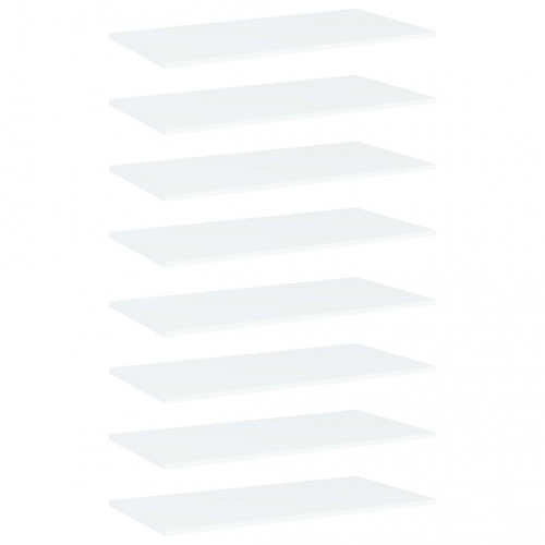 Dream Living Hyllplan 8 st vit 80x40x1,5 cm spånskiva