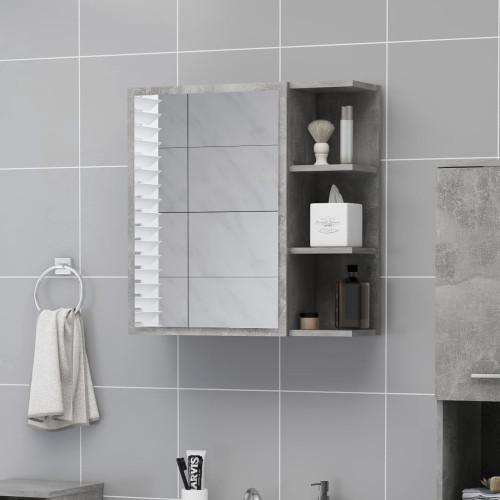 Dream Living Spegelskåp för badrum betonggrå 62,5x20,5x64 cm spånskiva