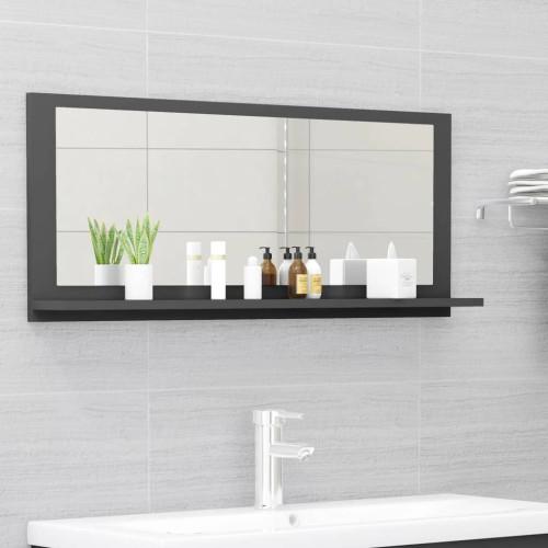 Dream Living Badrumsspegel grå 90x10,5x37 cm spånskiva