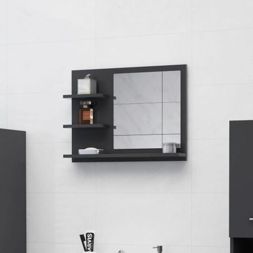 Dream Living Badrumsspegel grå 60x10,5x45 cm spånskiva