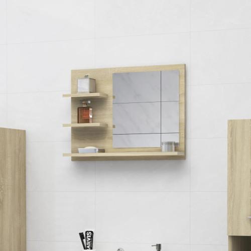Dream Living Spegelskåp sonoma-ek 60x10,5x45 cm spånskiva