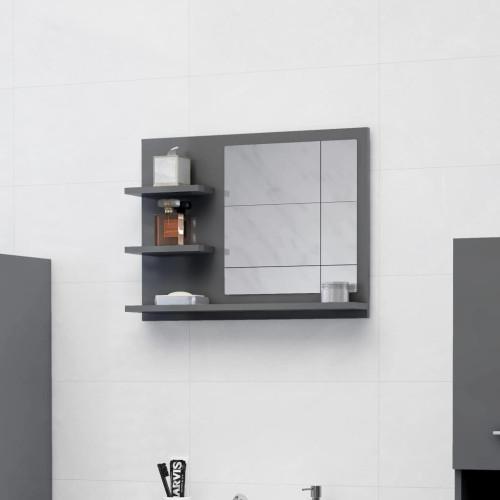 Dream Living Badrumsspegel grå högglans 60x10,5x45 cm spånskiva