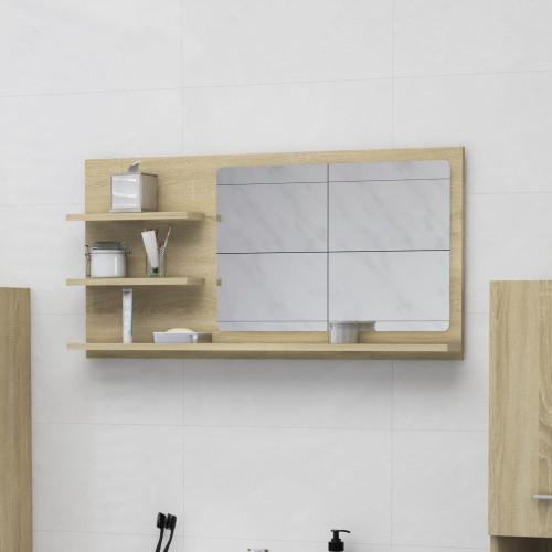 Dream Living Spegelskåp sonoma-ek 90x10,5x45 cm spånskiva