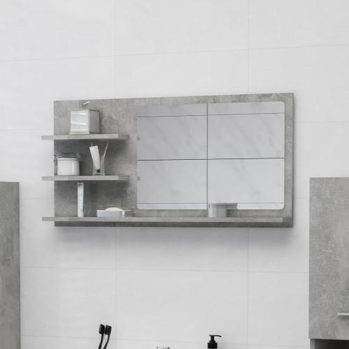 Dream Living Badrumsspegel betonggrå 90x10,5x45 cm spånskiva