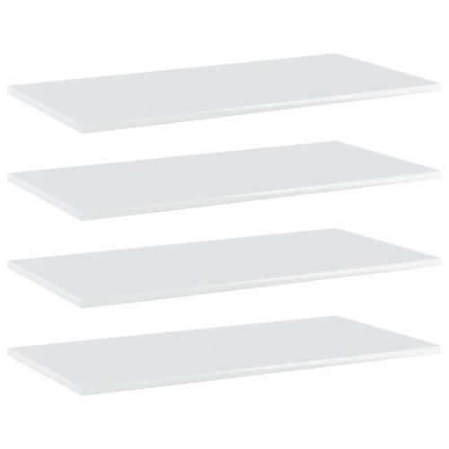 Dream Living Hyllplan 4 st vit högglans 80x40x1,5 cm spånskiva