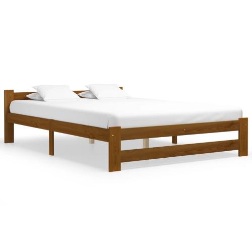 Dream Living Sängram honungsbrun massiv furu 140x200 cm